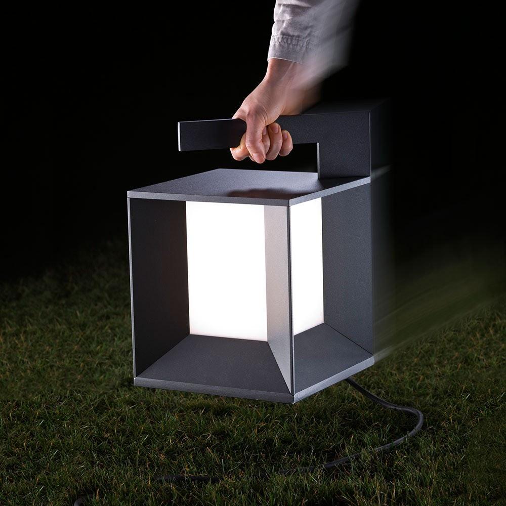 Mineur LED-Boden-Außenleuchte tragbar 830lm Anthrazit