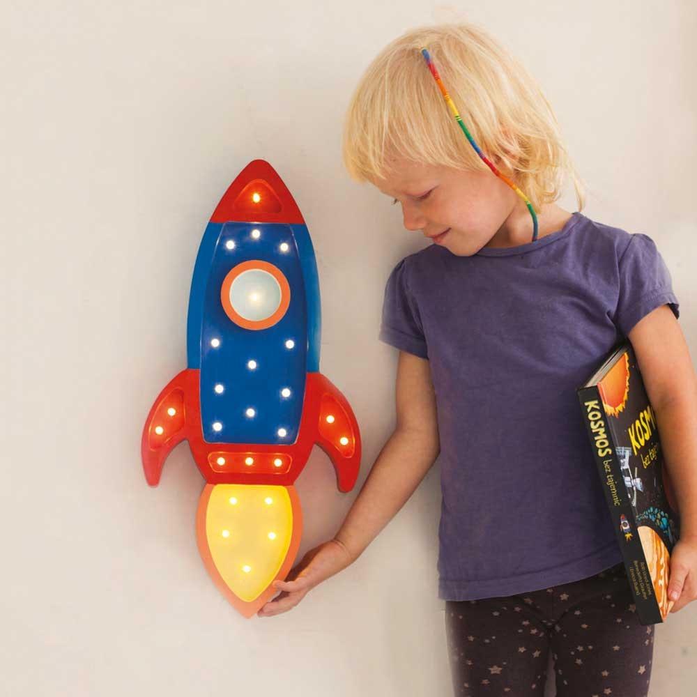 Little Lights Kinder Wand- & Tischleuchte Rakete  2