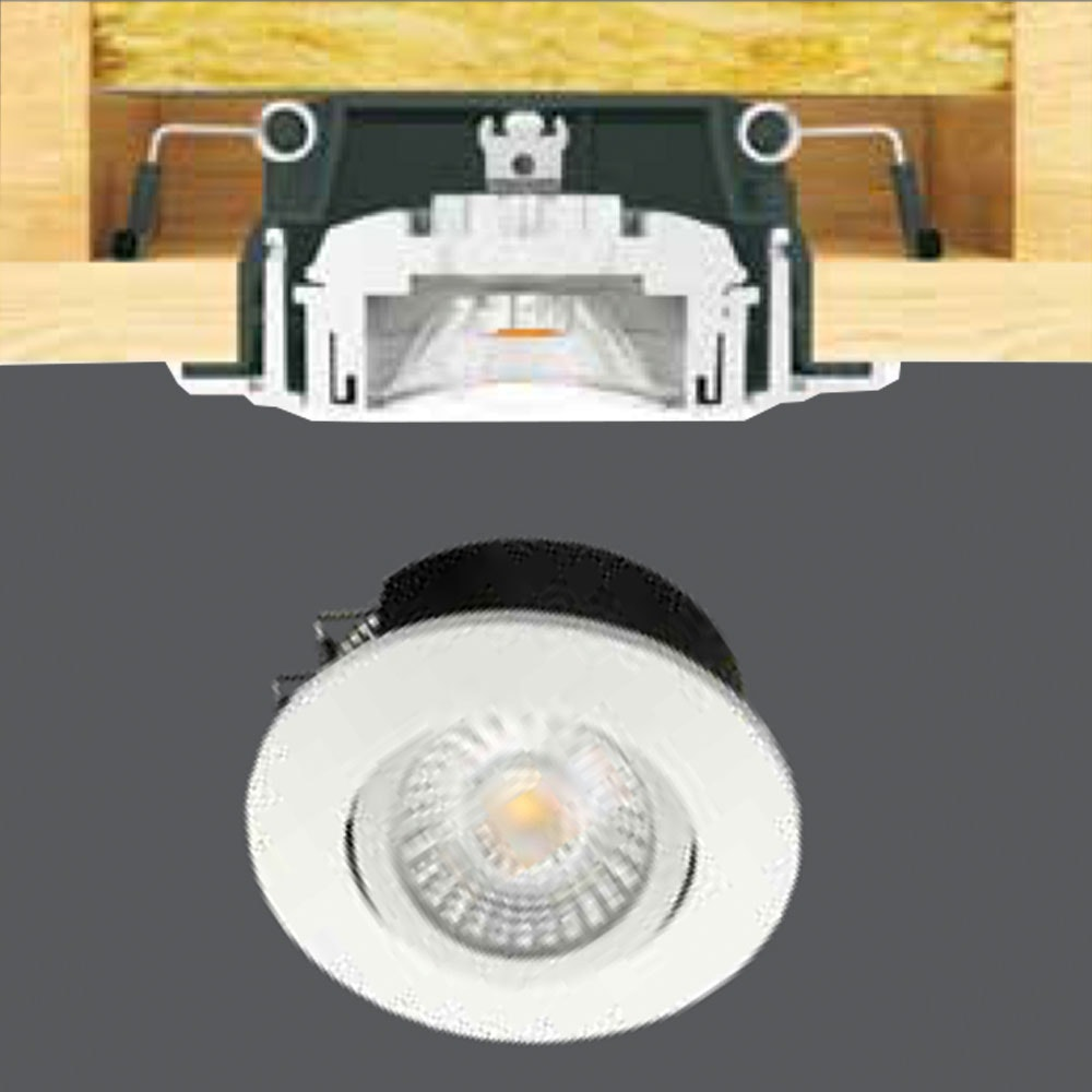 Licht-Trend LED-Spot IP44 Brandschutz schwenkbar 2