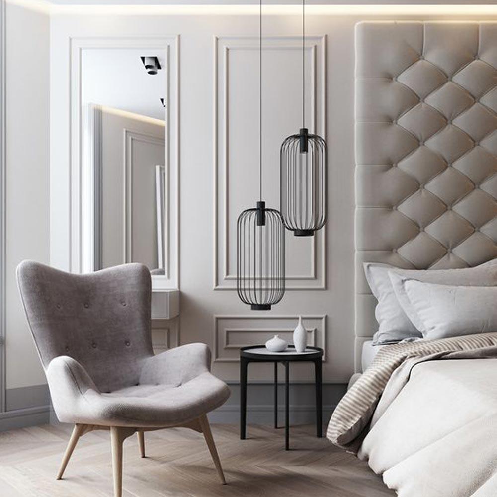 s.LUCE Rooms M direkt & indirekte Gitter-Pendelleuchte Ø30cm 4
