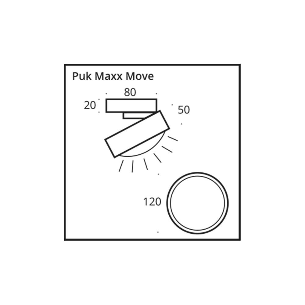 Top Light LED Deckenstrahler Puk Maxx Move 360° 10