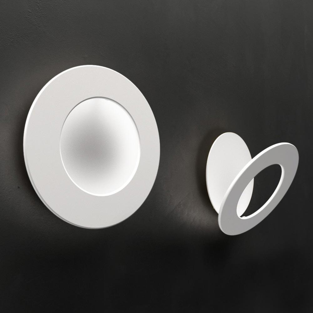 Icone LED Wandleuchte Vera Ø 21cm Weiß