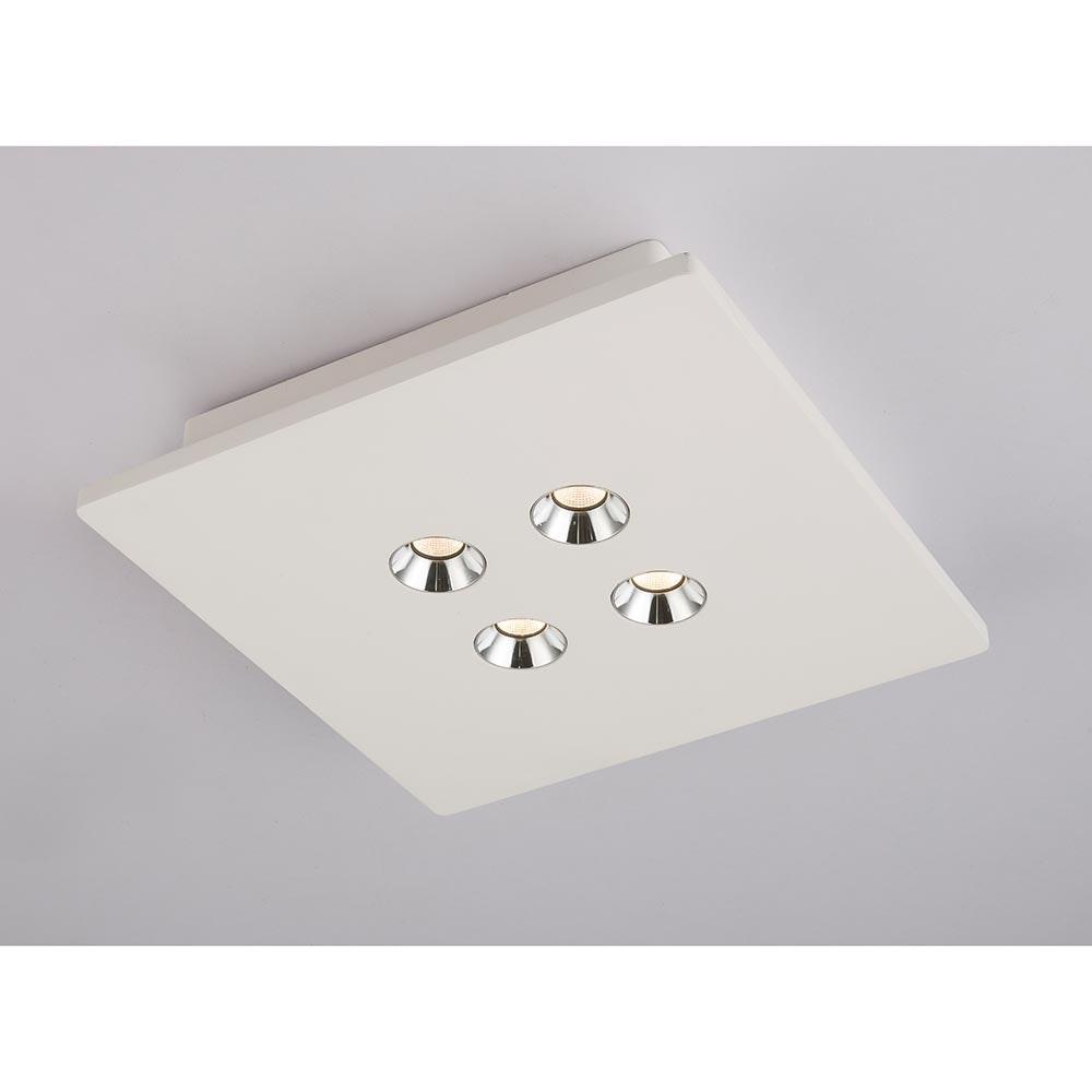 Licht-Trend LED Gips Deckenlampe Tucum 25x25cm Weiß 1