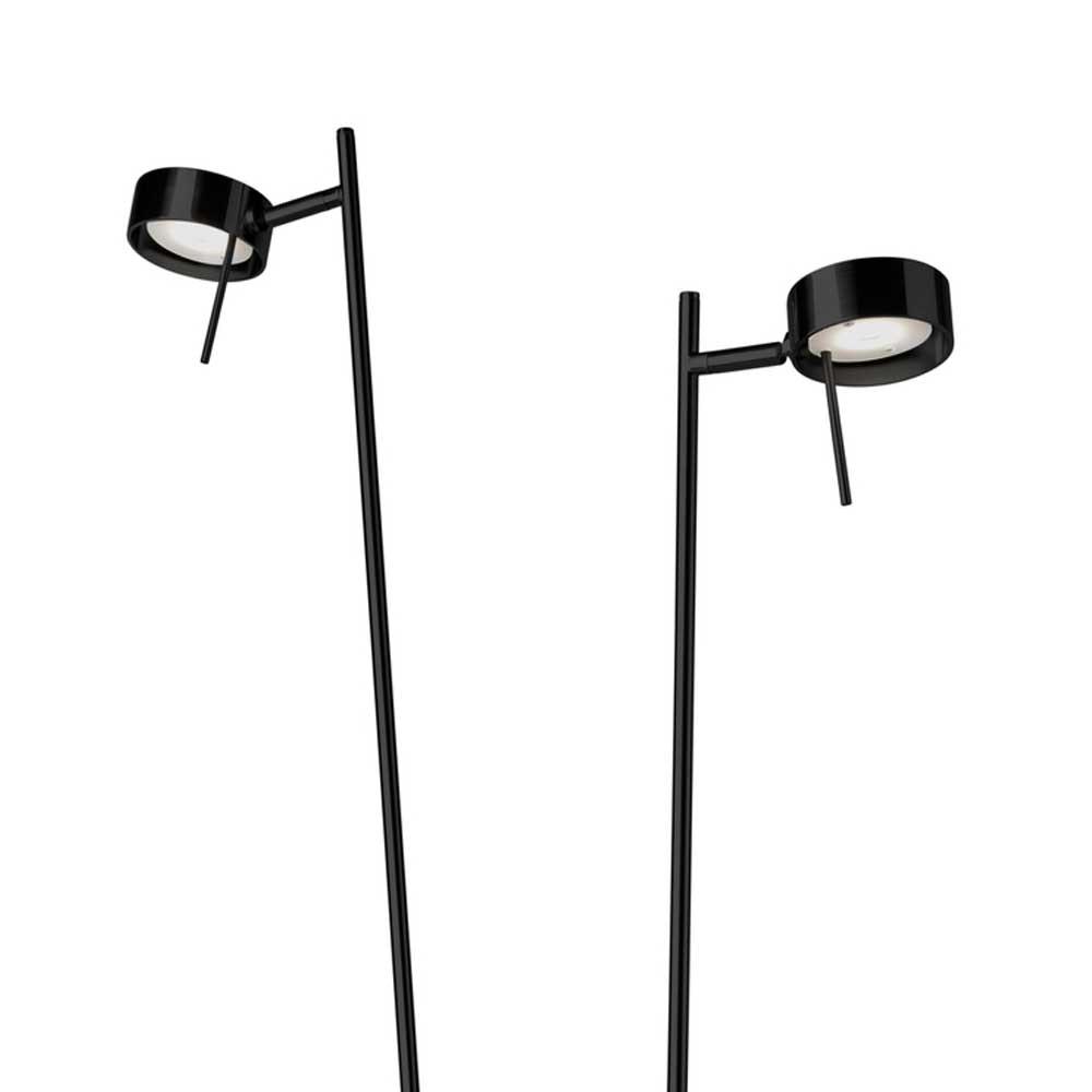 LED Doppel Stehleuchte Bling 140cm Schwarz Touchsensor 2