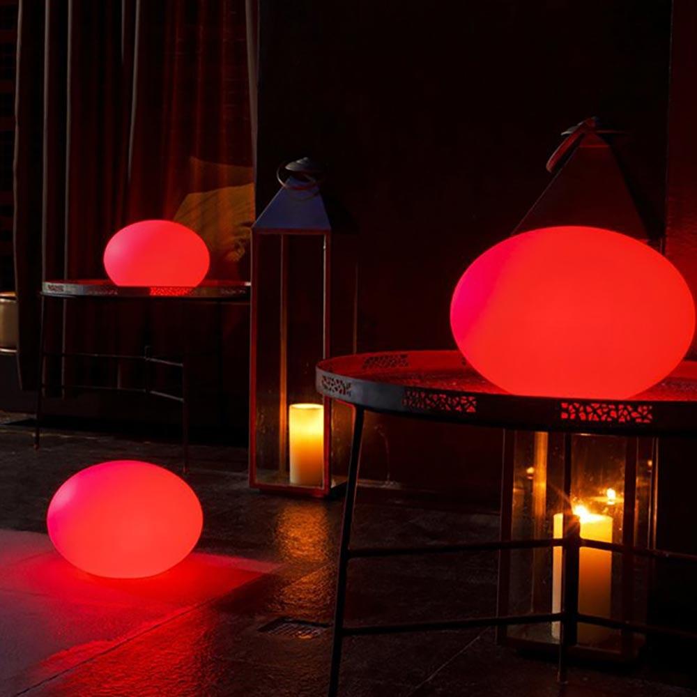 LED Akkulampe Flatball L mit App-Steuerung 4