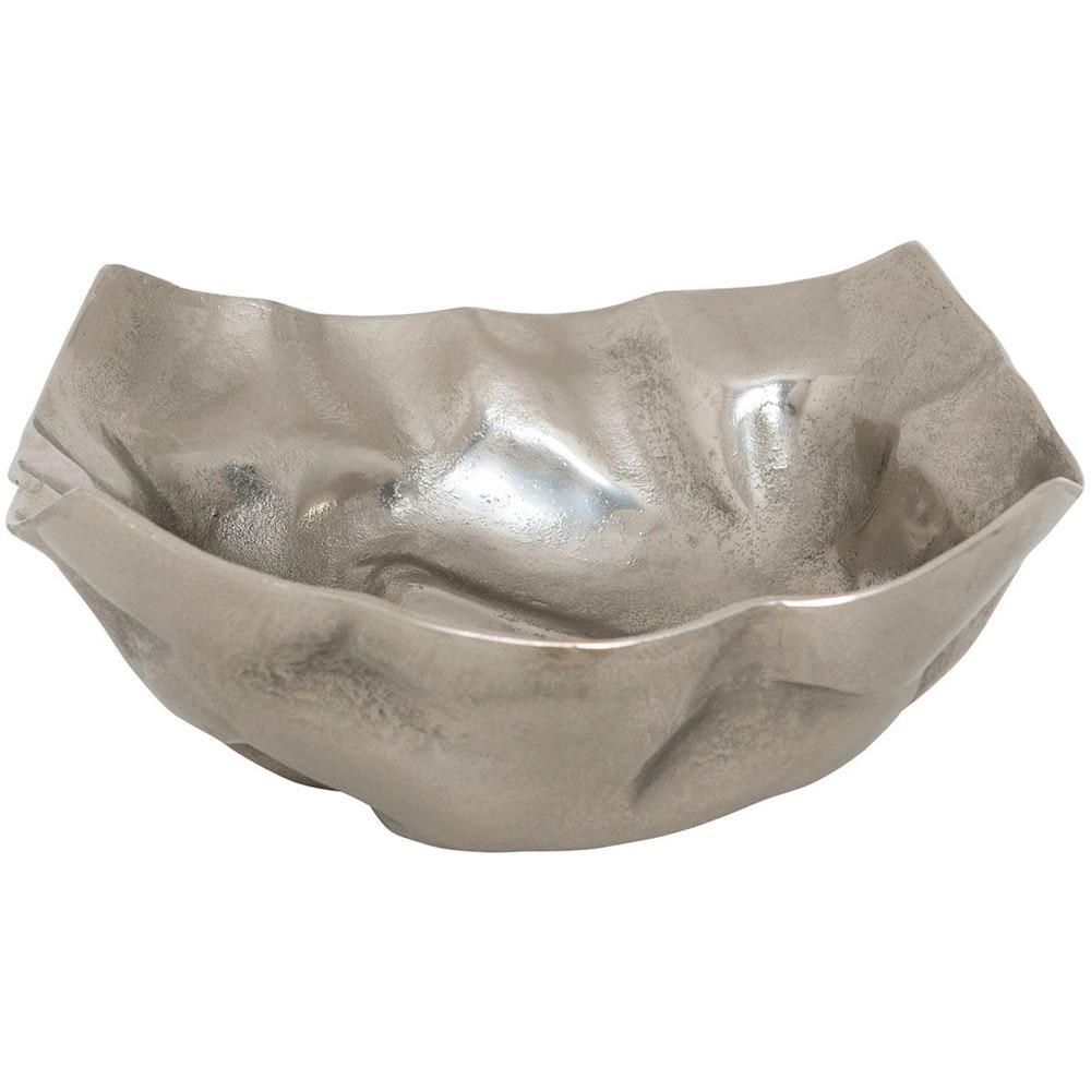 Dekoschale Rustica Gross Aluminium Silber 3