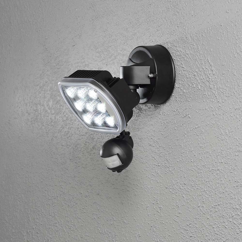 Prato LED Außenstrahler mit Bewegungsmelder Schwarz 1