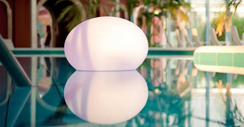 pool leuchten rund