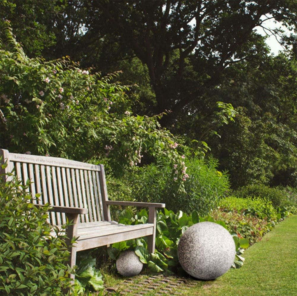 Garten Kugelleuchte in Steinoptik Ø30cm IP65 2