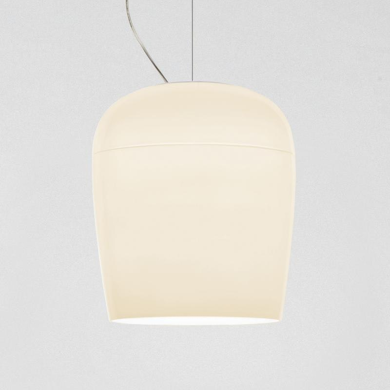 Prandina ovale Glaslampe Tiara S3 Elfenbein 3