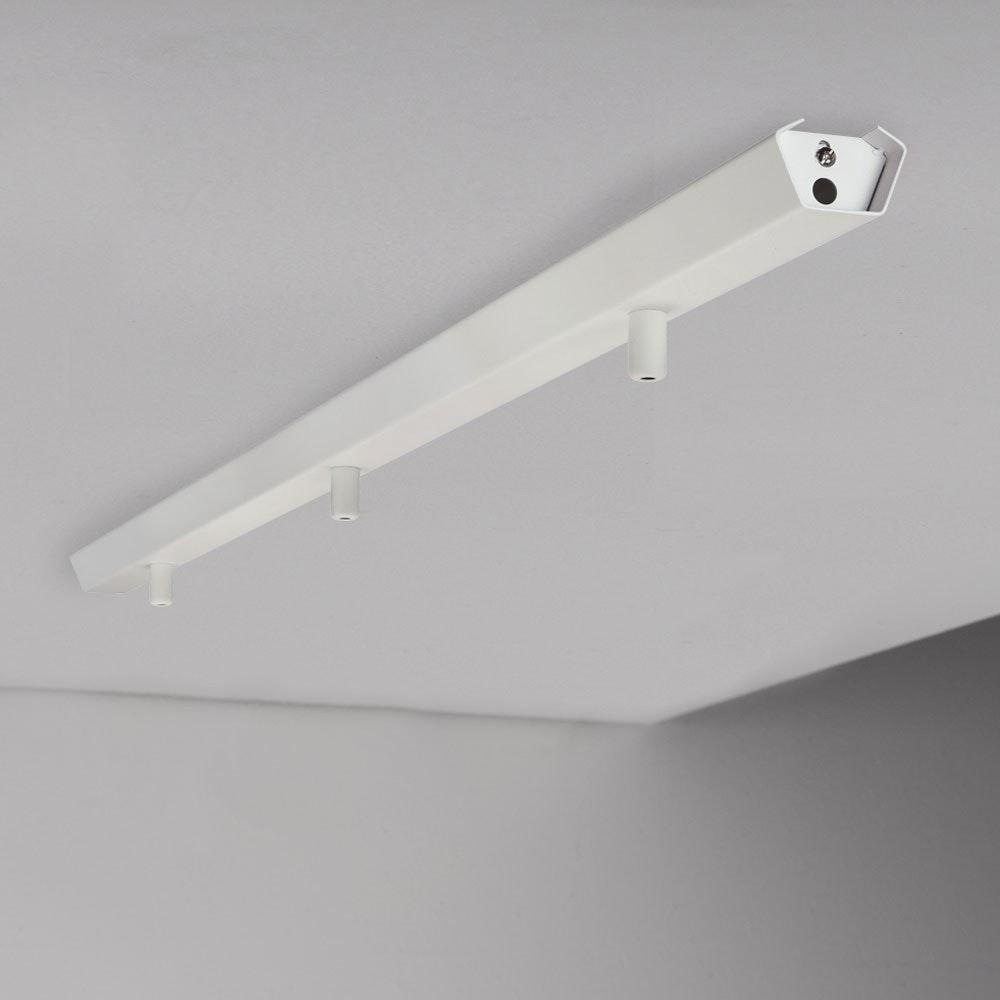 Elegante Combo Metall-Schiene in Weiß 2