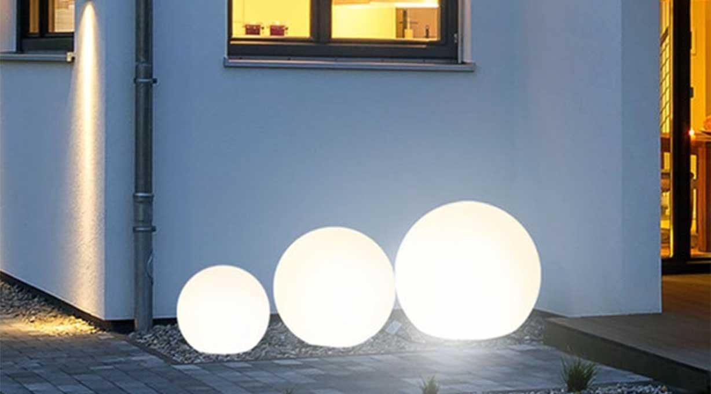 Globe LED Außenleuchte Kugel terrasse