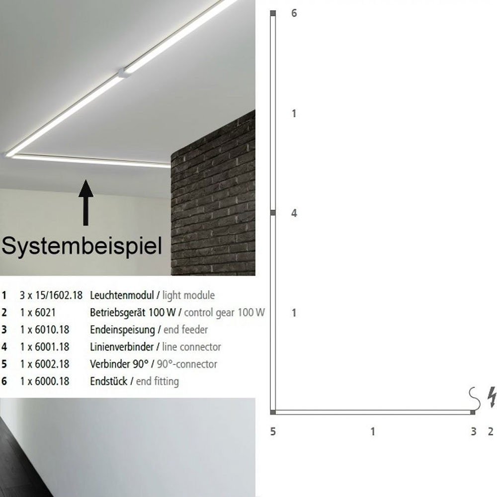 VIGO System LED-Linienmodul 60cm Alu-matt 15