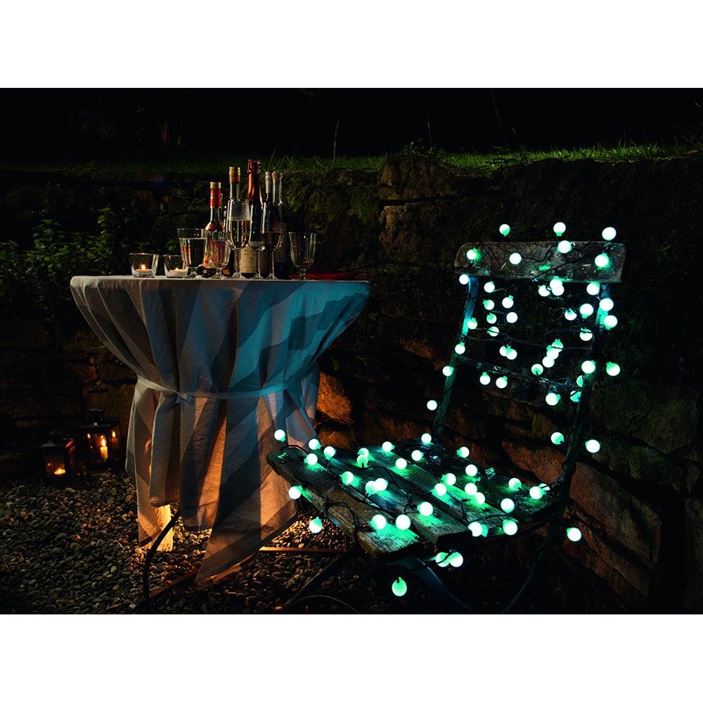 LED Globelichterkette große runde Dioden mit RGB Farbwechsel 80 RGB Dioden IP44 3