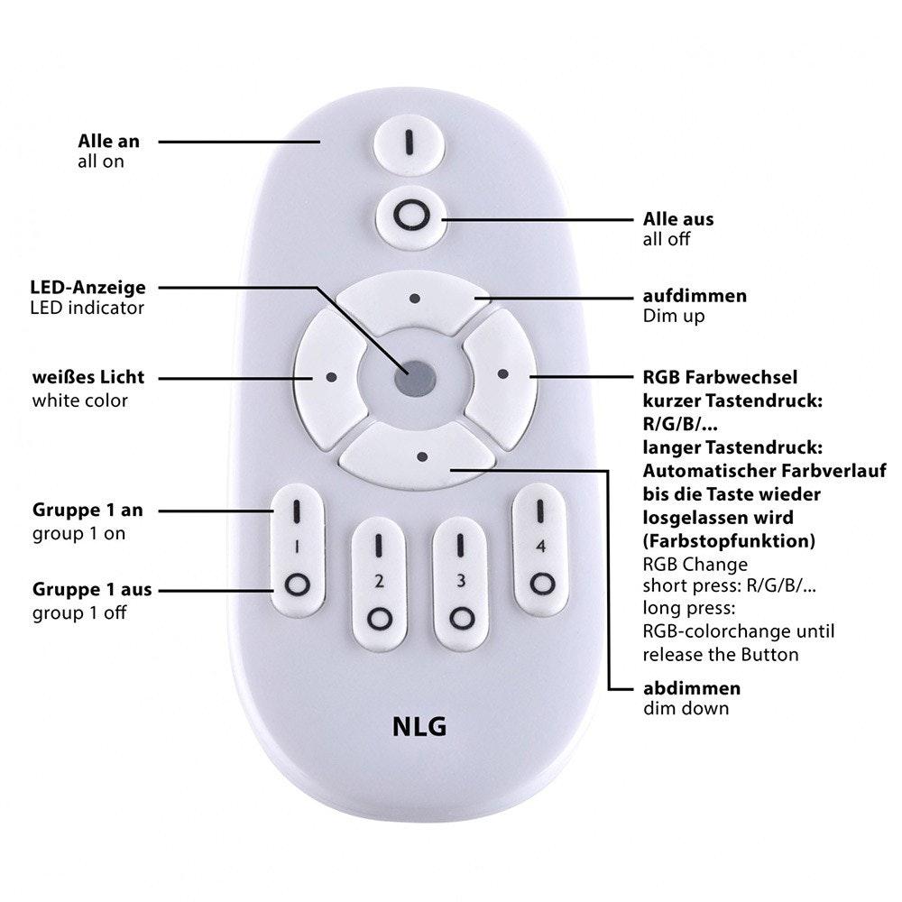 Q-Flat 2.0 rahmenlose LED Deckenlampe 60 x 30cm RGBW + FB Weiß 9