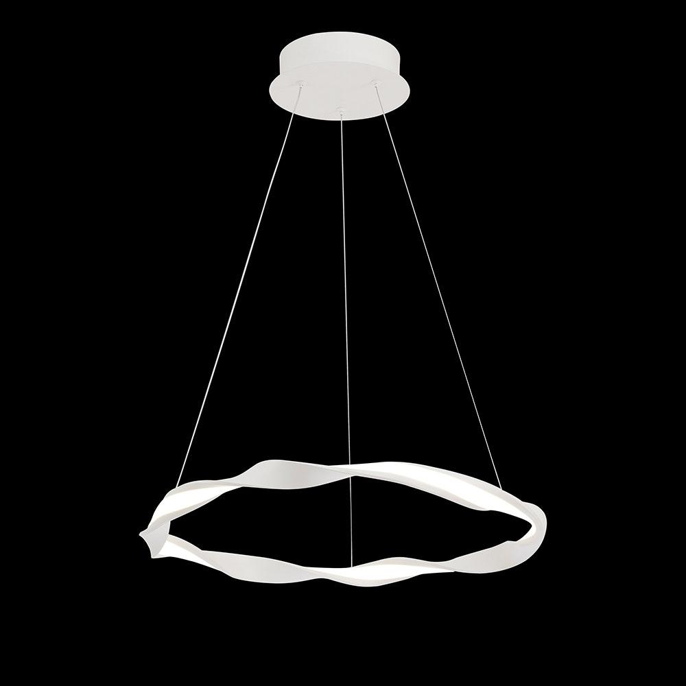 Mantra Madagascar LED-Pendelleuchte Weiß Rund 4