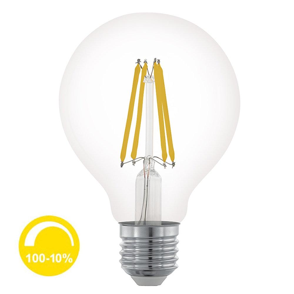 E27 LED Retro Ø 8cm Dimmbar 6W, 806lm Warmweiß 1
