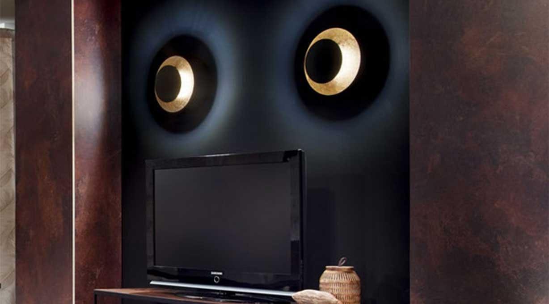 Plate Wandlampe TV Wand Wohnzimmer