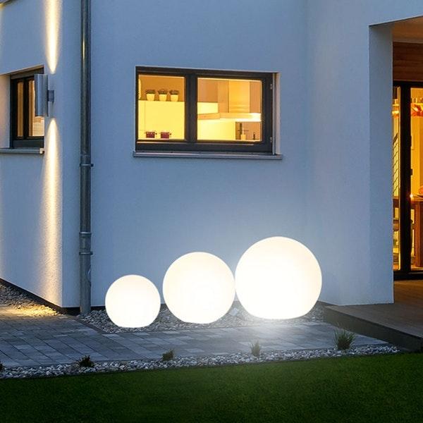 s.LUCE pro Globe+ langlebige Garten Aussenkugel Weiß 15