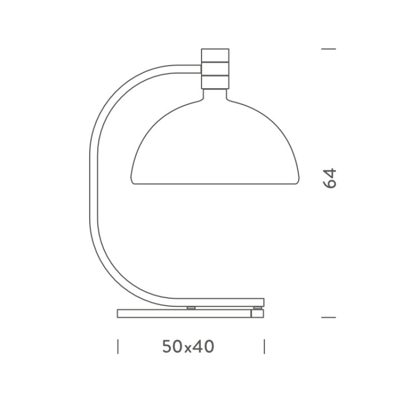 Nemo As1C Tischlampe Albini mit Glasschirm 2