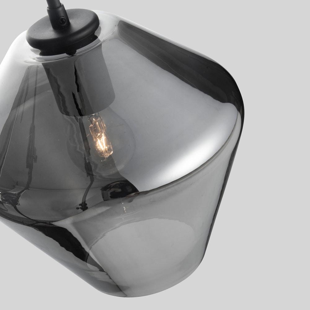Nova Luce Veiro Hängeleuchte mundgeblasenes Rauchglas thumbnail 4