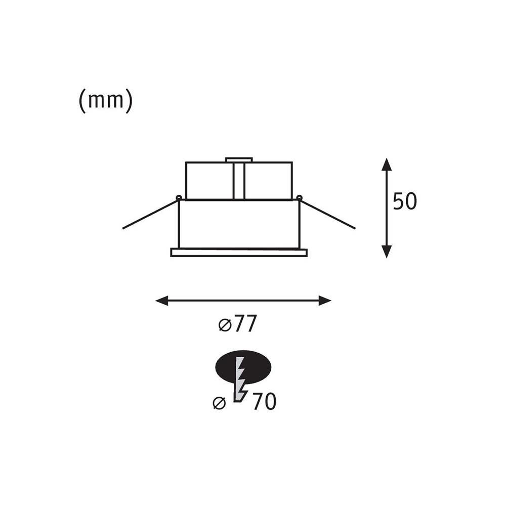 Einbauleuchten-Set Cymbal starr Dimmbar IP44 Weiß 6