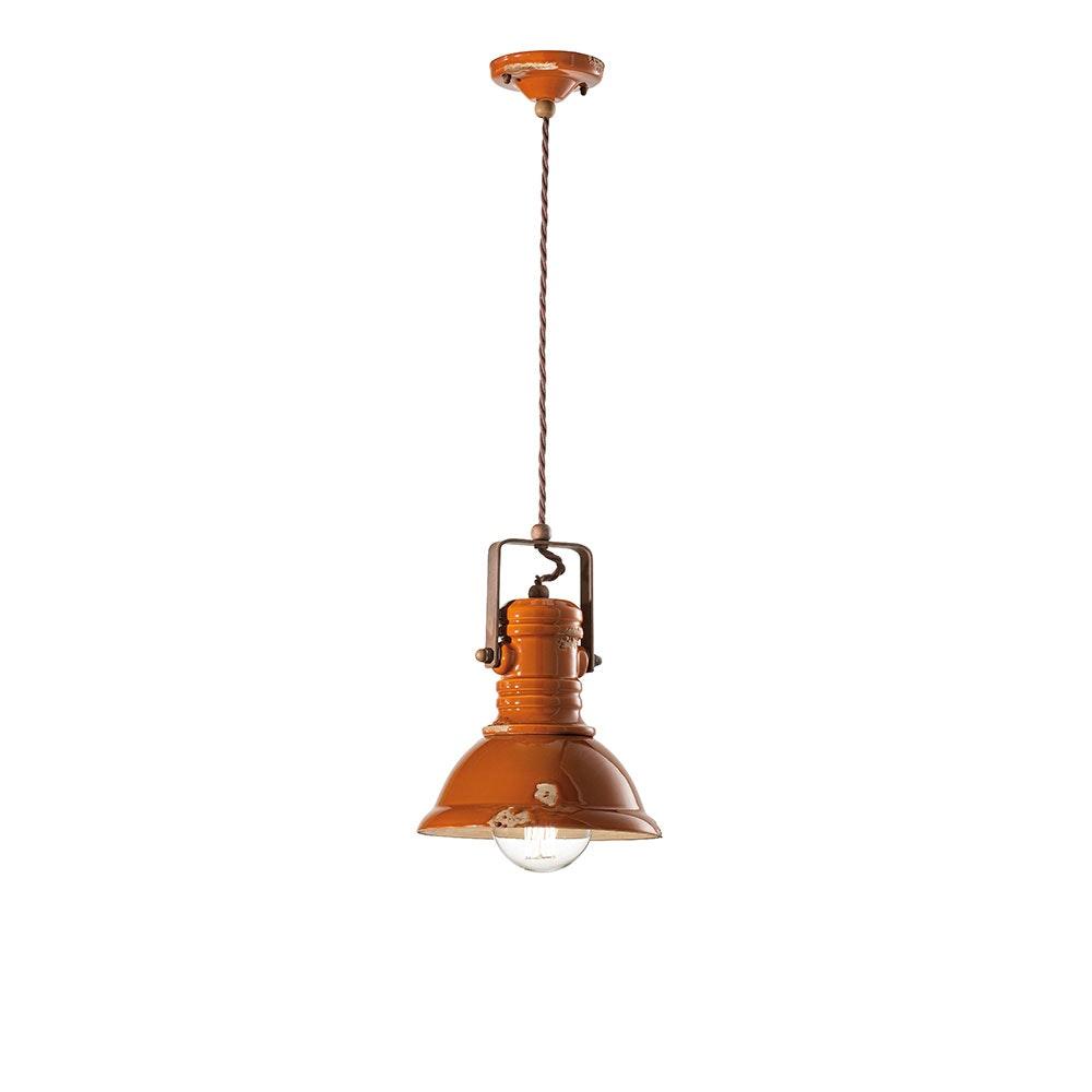 Ferroluce Industrial Keramik-Hängeleuchte Ø 23cm 9