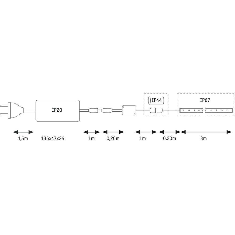 LED Strip 3m RGB Function MaxLED Flow Basisset 27W 11