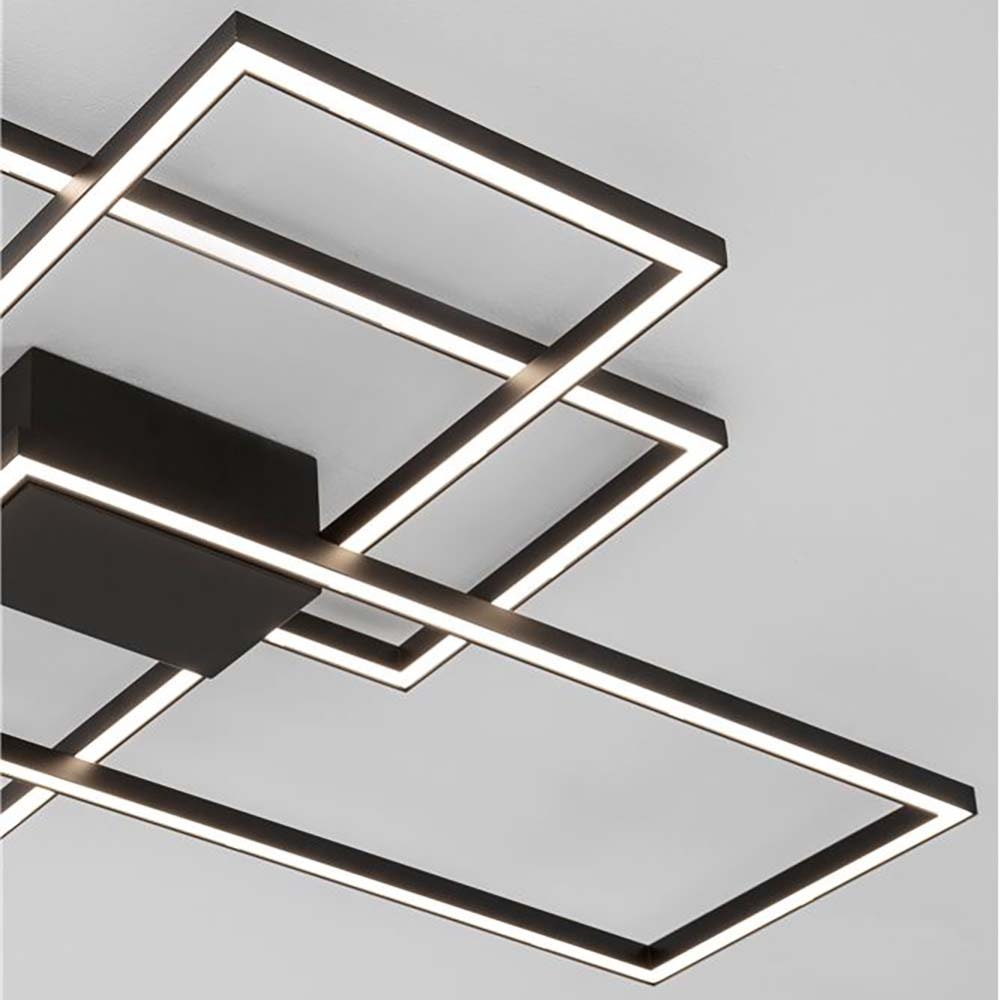 LED-Deckenleuchte Bilbao Matt-Schwarz 4