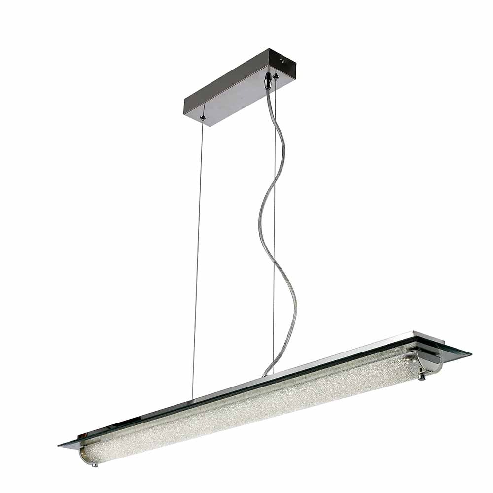 Mantra Tube Glas LED-Pendelleuchte Chrom 4