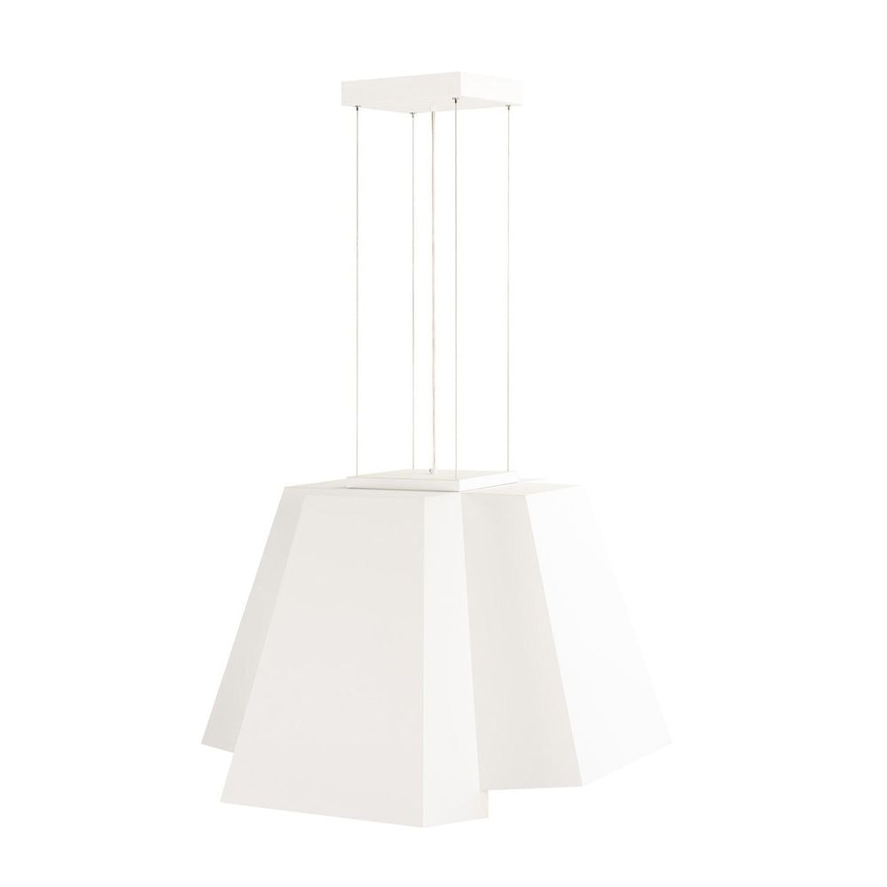 SLV Soberbia LED Pendelleuchte eckig Weiß 2700K 3