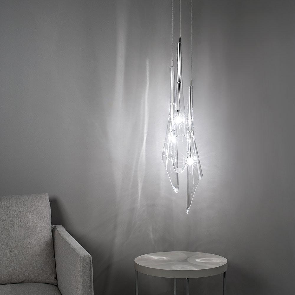Terzani Calle Glas Esstischlampe 3er