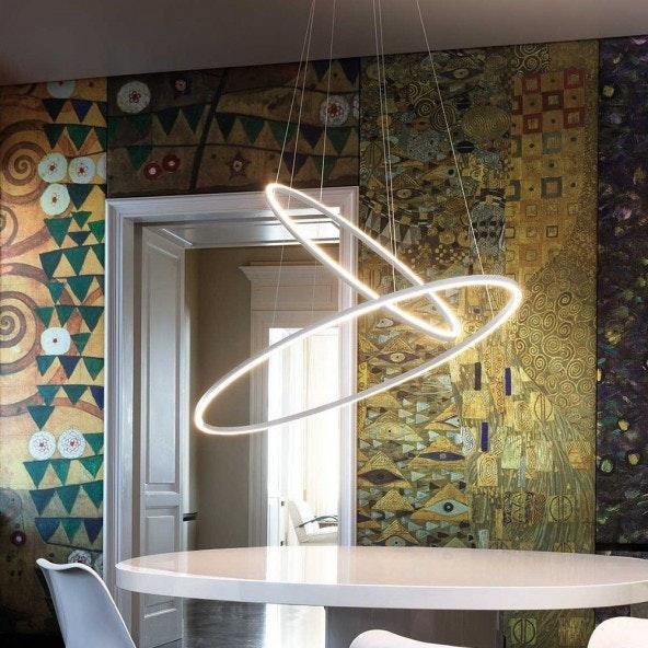 Nemo Ellisse Double LED Hängelampe 135x70cm 1