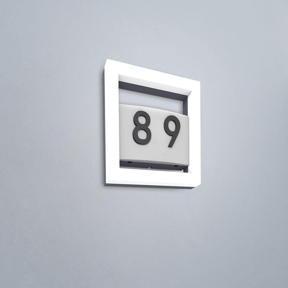 Alice LED-Außenwandleuchte mit Hausnummer IP44 800lm Anthrazit 5194301118