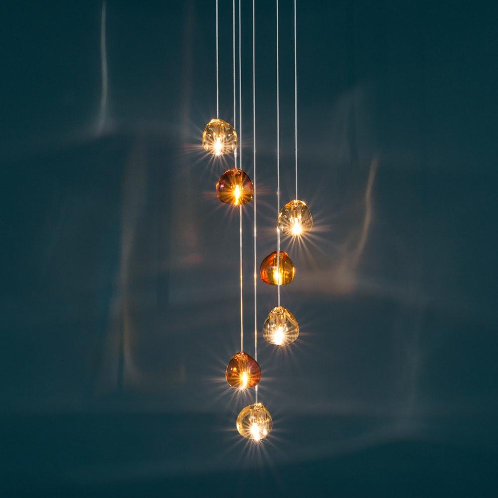 Terzani Mizu Design Hängeleuchte 7-flammig Ø 31cm 2