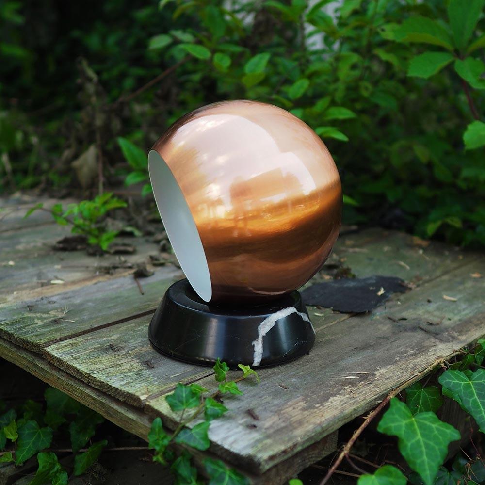 s.LUCE Ball Tischleuchte schwarzer Marmor Ø 20cm thumbnail 3