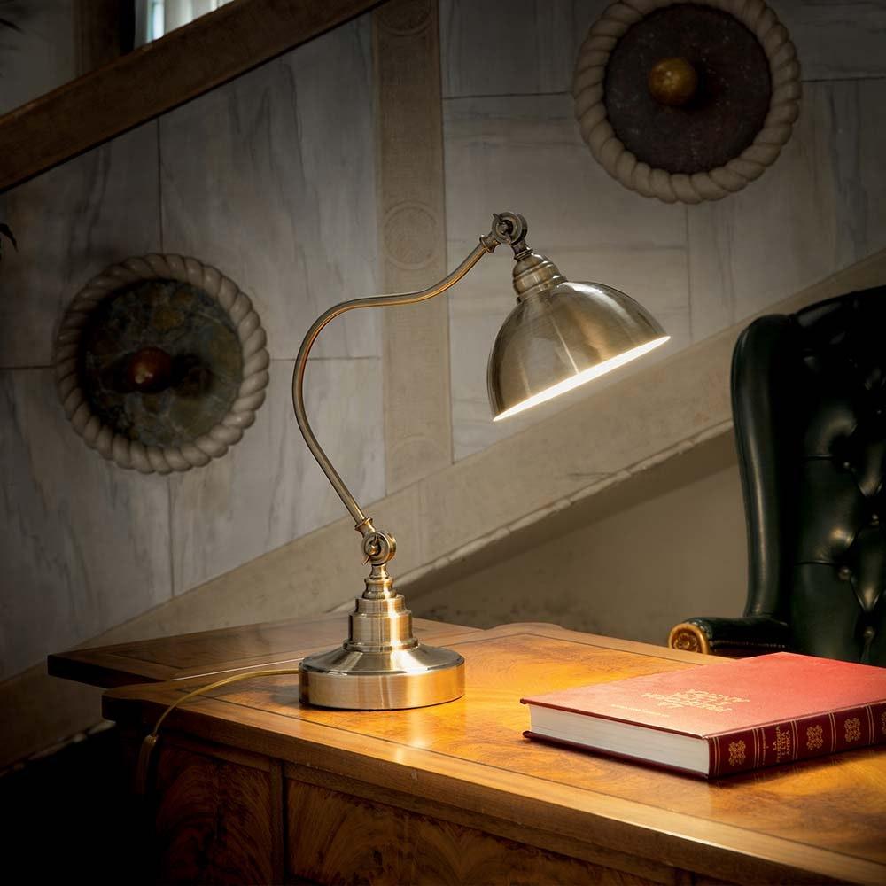 Ideal Lux Tischleuchte Amsterdam Tl1 Brüniert