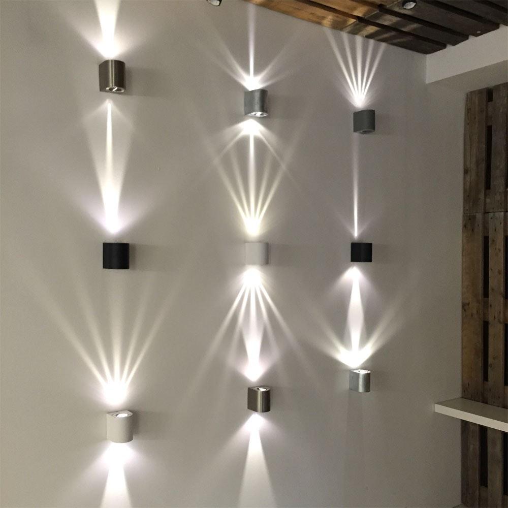 Baleno Aussen LED-Wandlampe + Lichtfilter Grau thumbnail 5