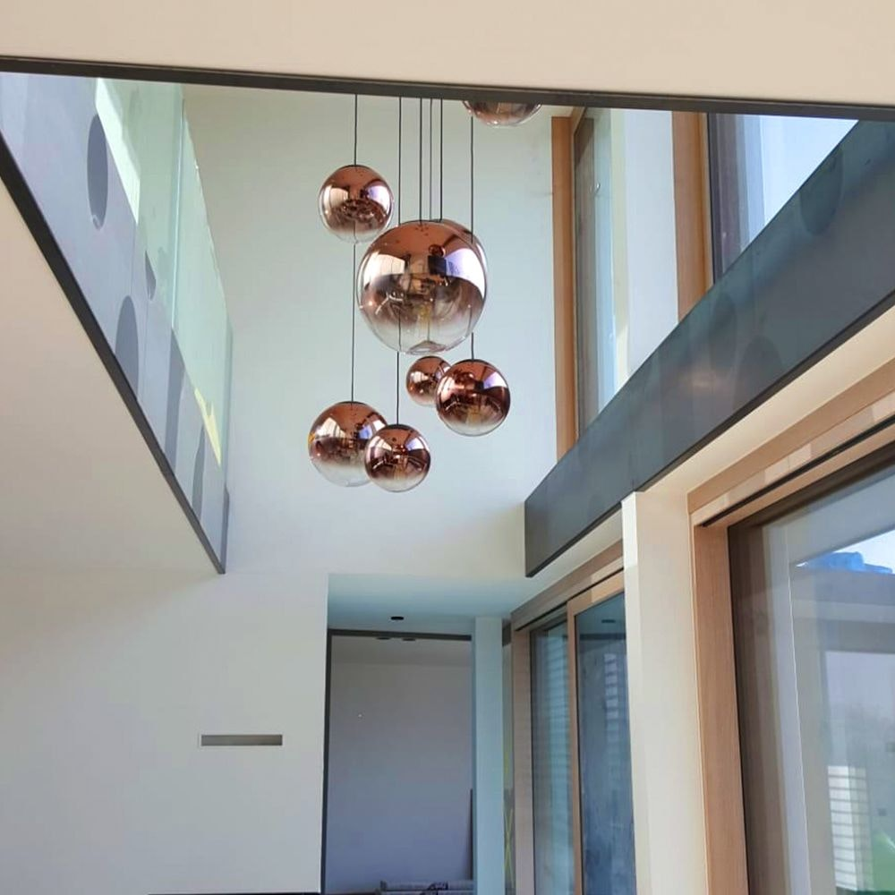 s.LUCE pro Progress Galerieleuchte Glas mit Farbverlauf 5m Abhängung 2