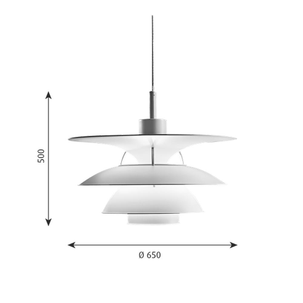 Louis Poulsen LED Hängeleuchte PH 6½-6 Weiß 8