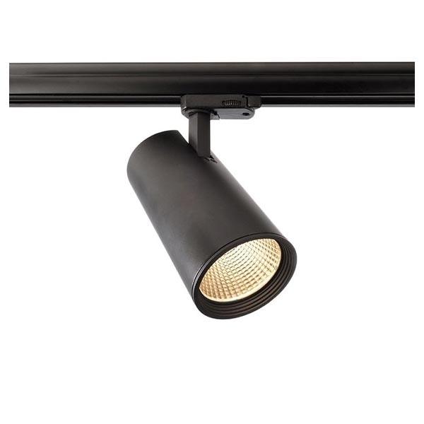 3-Phasen LED Strahler Lunos 3000K Schwarz Mattiert 1