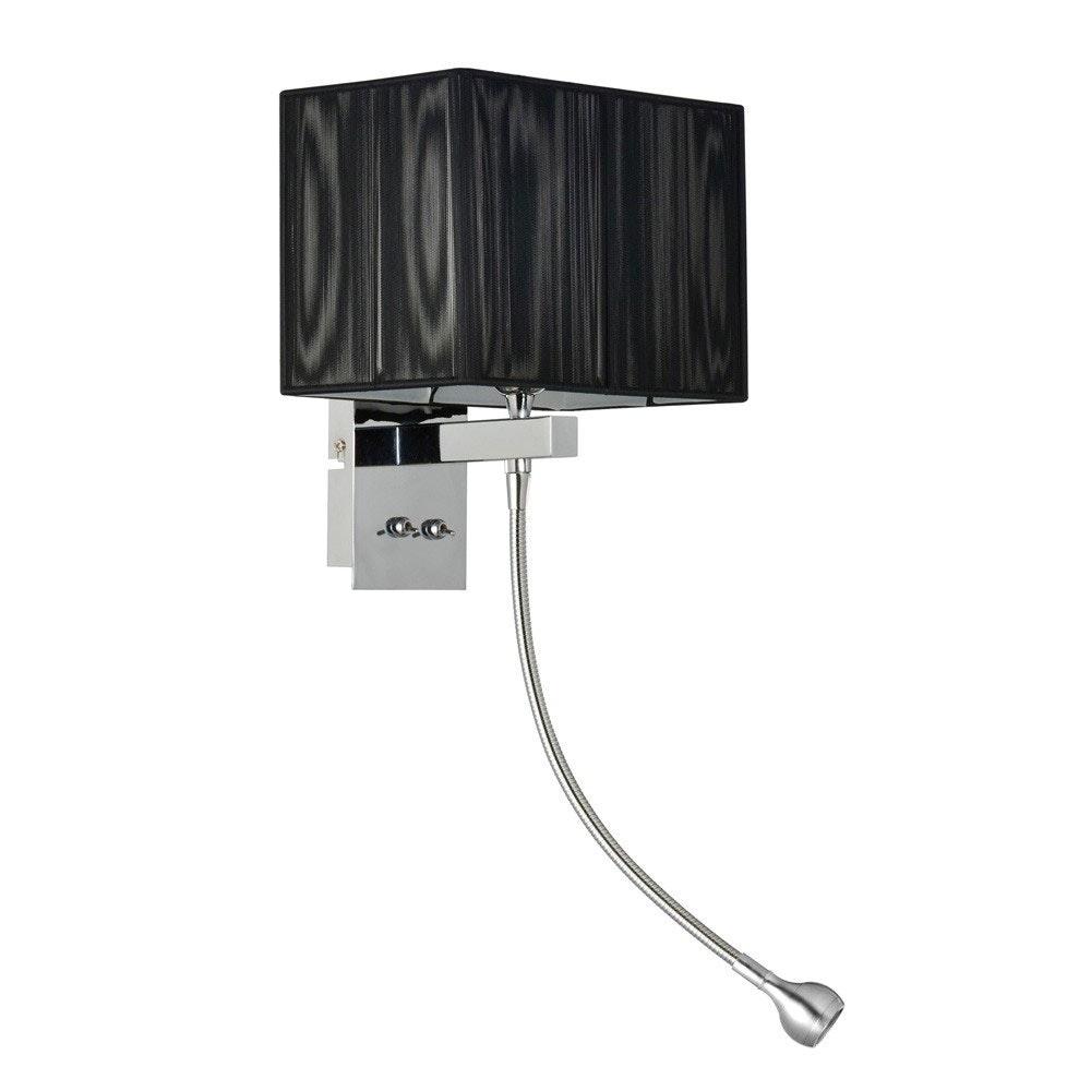 s.LUCE Twine Wandleuchte mit LED-Lesearm und Stoffschirm 13