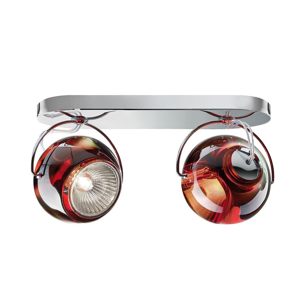 Fabbian Beluga Wand- & Deckenlampe 2-flammig 7