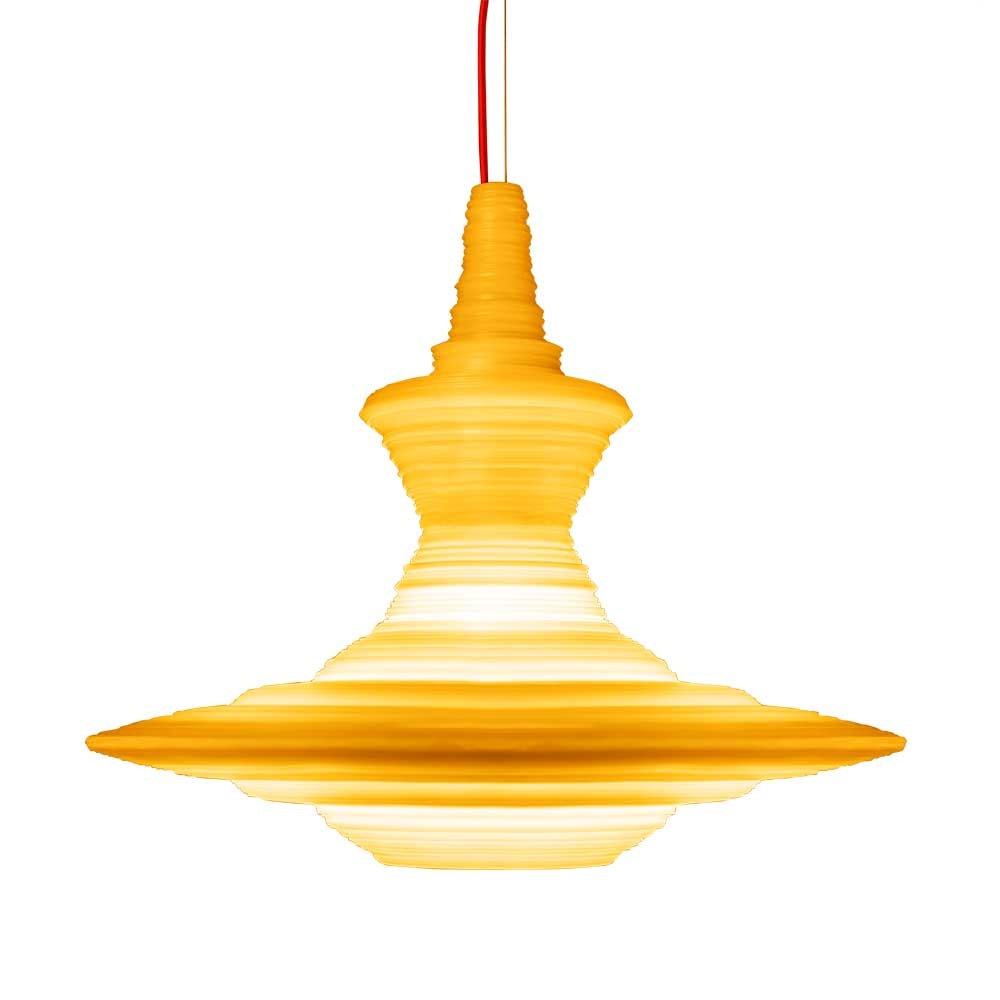 Hängeleuchte Stupa aus Harz 4