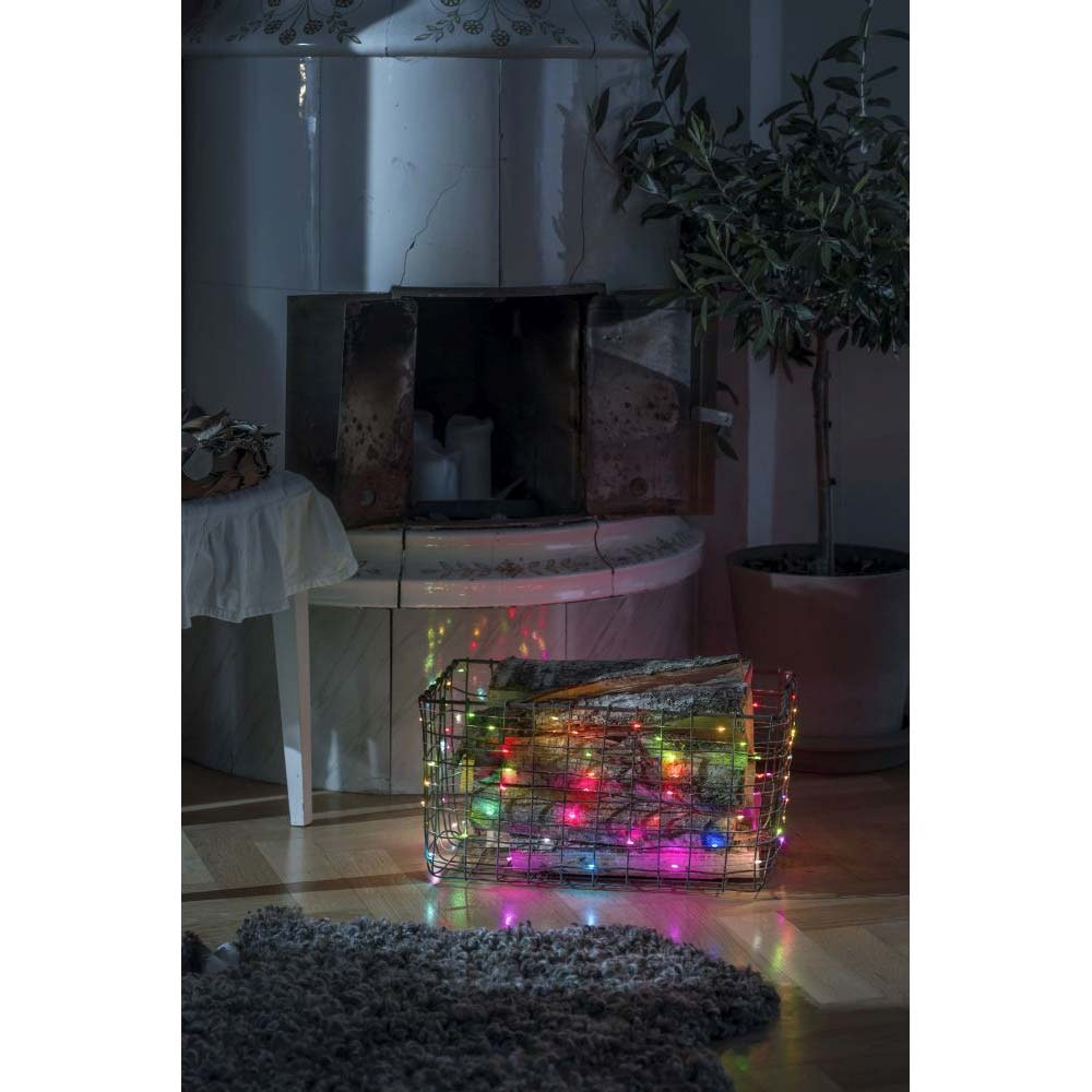 Micro LED Lichterkette mit langsamen und schnellen Farbwechsel 100 bunte Dioden 1