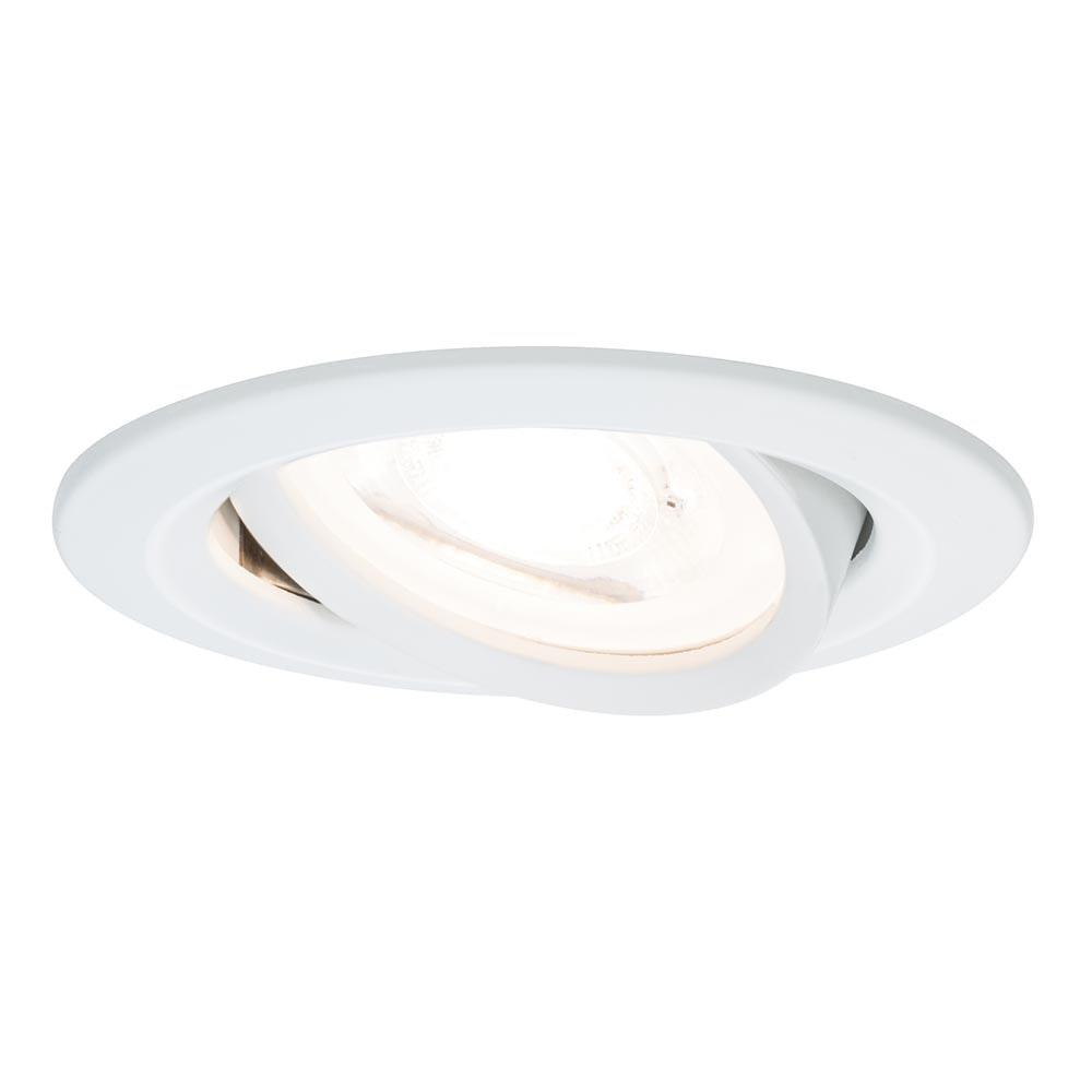Einbauleuchte LED Nova IP23 rund 7W GU10 Weiß dimm- & schwenkbar 1