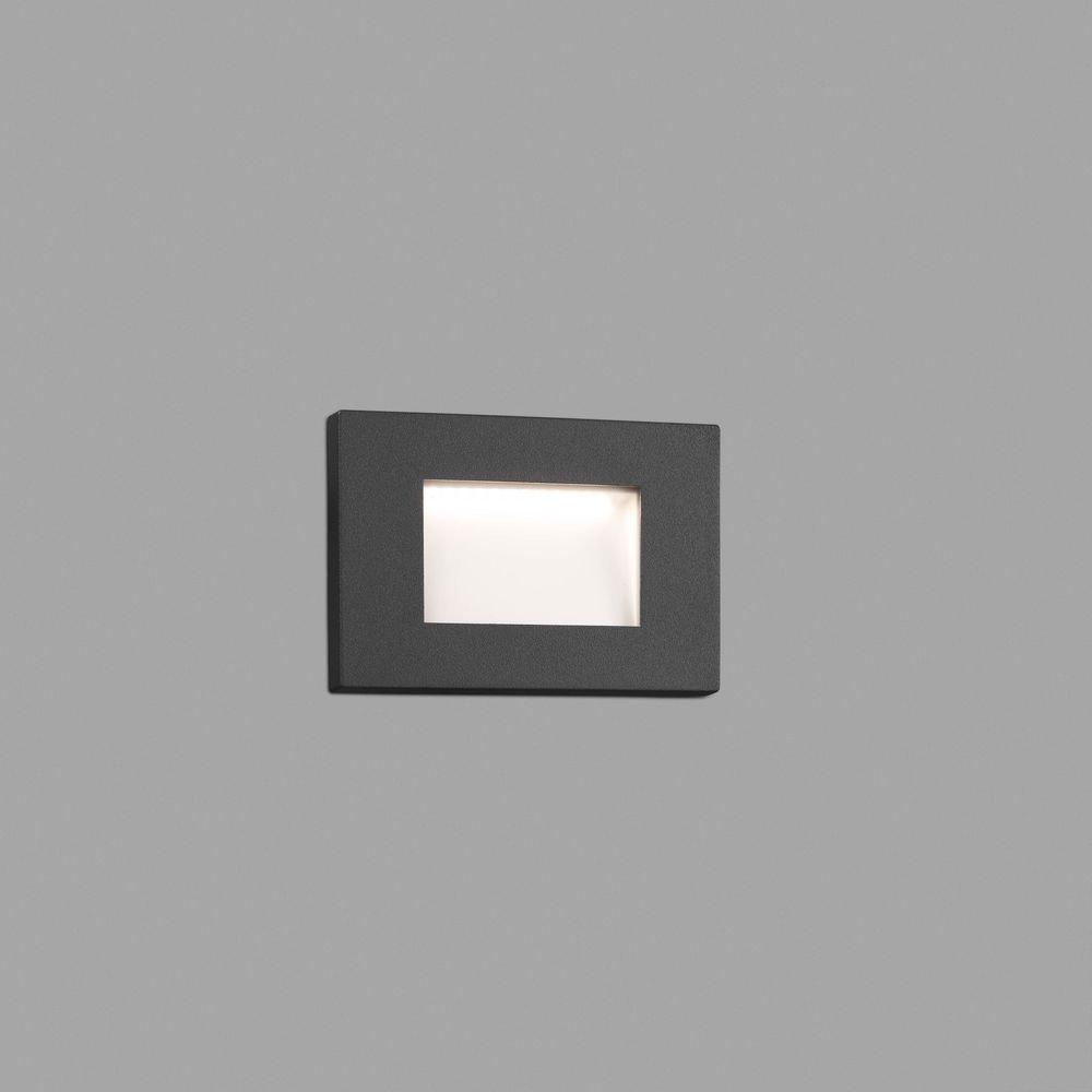 LED Wand-Einbauleuchte SPARK-1 3000K IP65 Dunkelgrau