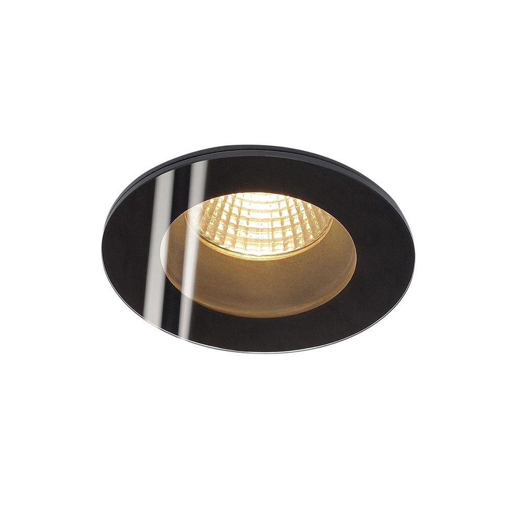 SLV Patta-I LED Deckeneinbauleuchte rund 3000K Schwarz 1