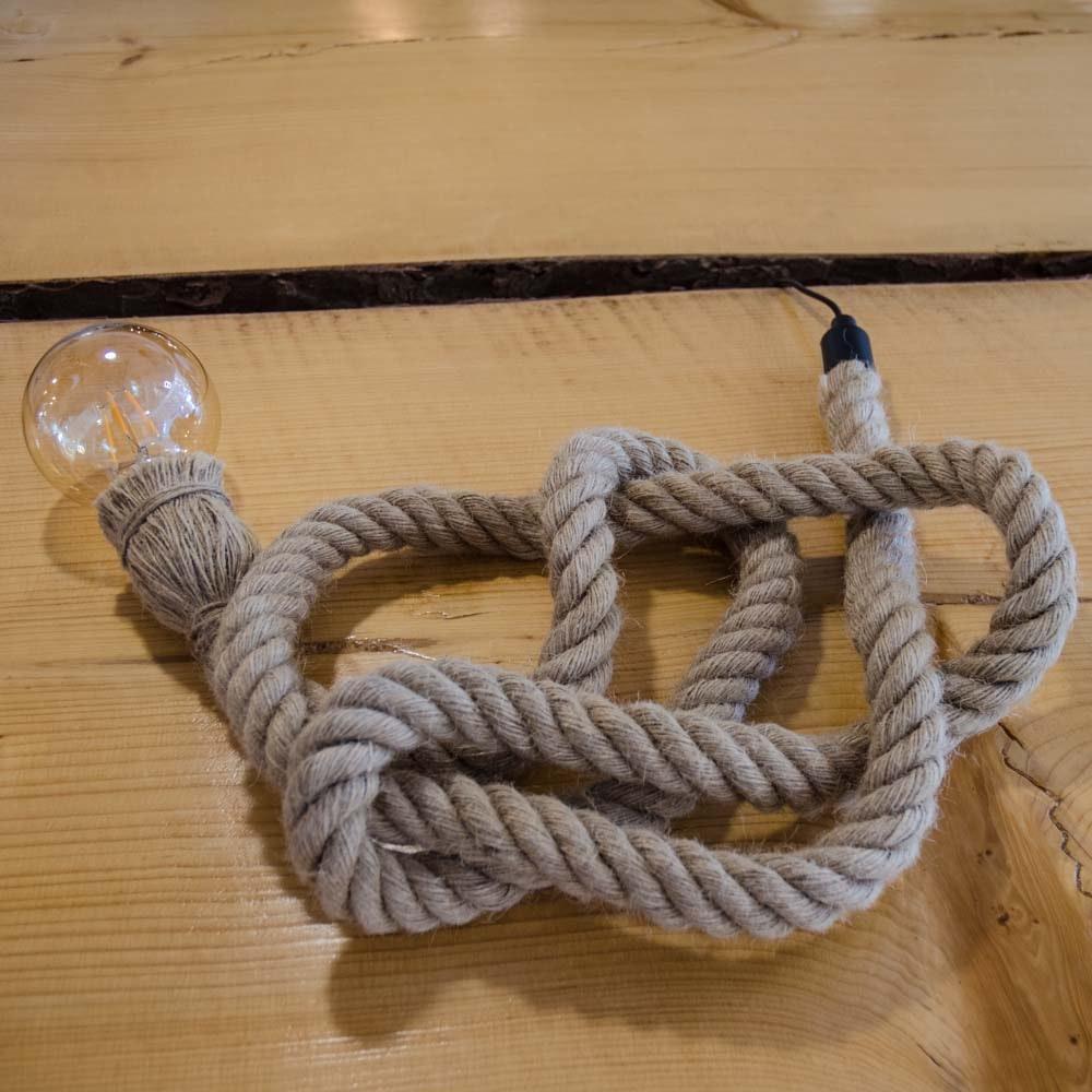 s.LUCE Rope Seil-Tischleuchte mit Fassung 200cm Braun thumbnail 6