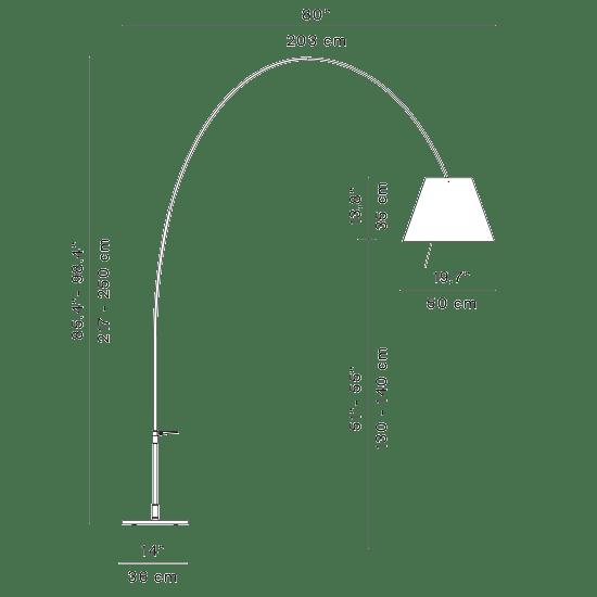 Luceplan Lady Costanza Bogenlampe mit Dimmer thumbnail 4